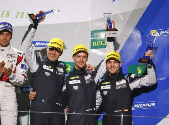 Dempsey Proton Racing : Christian Ried, Matteo Cairoli, Marvin Dienst, (l-r)
